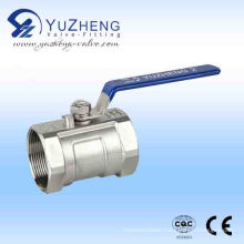 Ss 1PC Floating Thread Ball Valve